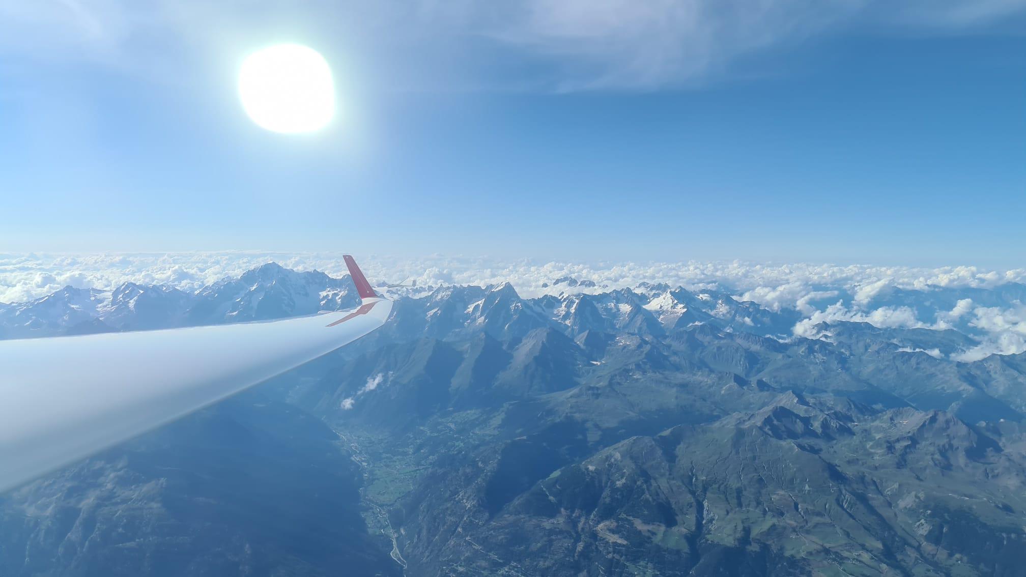 5800m mit Blick auf den Mont Blanc